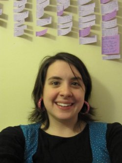 Me & my wall of novel planning sticky notes