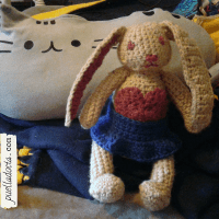 Bunny 2, bigger heart, different style ears, added a skirt