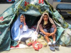Weihnachten 2012 Krippenspiel Zelt