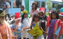 Weihnachten 2012 verkleidete Kinder