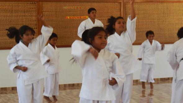 Karateunterricht März 2015 1