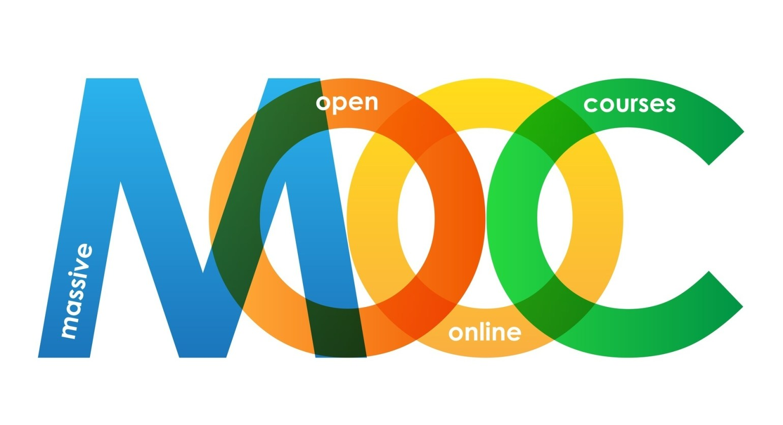 """MOOC"" Overlapping Letters Vector Icon"