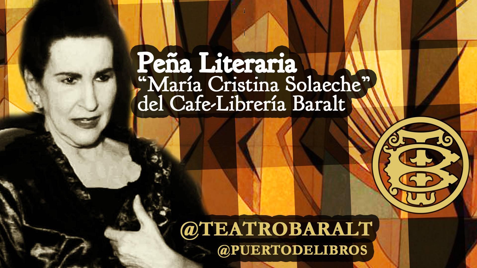 """Nace la Peña Literaria """"María Cristina Solaeche"""" en el Café-Librería Baralt"""