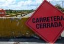 Afectada una carretera en Aguada por deslizamiento de terreno