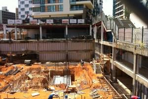 Construction at Ciudadela