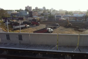 Construction of CVS at Tren Urbano/Sagrado Corazon