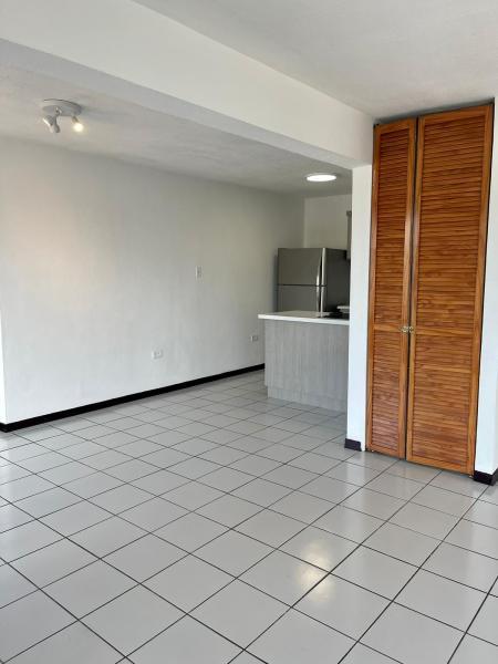 Open floor plan in living/dining/kitchen area.