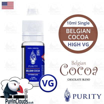 Purity Belgian Cocoa E-Liquid (High VG) 10ml | Puffin Clouds UK