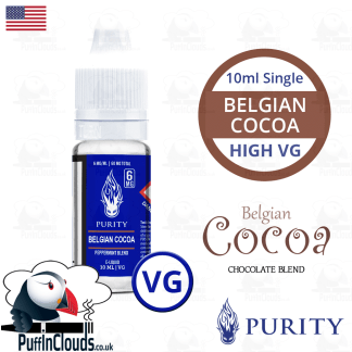 Purity Belgian Cocoa E-Liquid (High VG) 10ml | Puffin Clouds UK