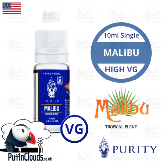Purity Malibu High VG E-Liquid 10ml | Puffin Clouds UK