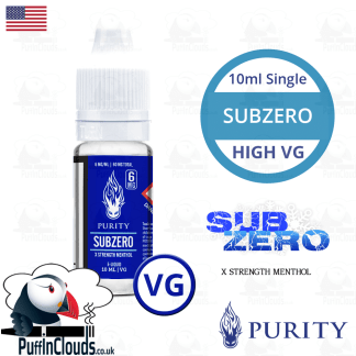 Purity SubZero High VG E-Liquid 10ml | Puffin Clouds UK