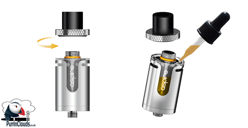 Aspire Cleito EXO Tank - Top Fill | Puffin Clouds UK