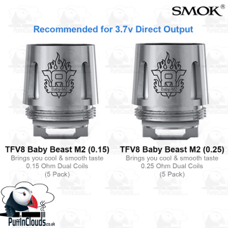 SMOK V8 Baby M2 Coils (5 Pack) | Puffin Clouds UK