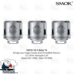 SMOK V8 X-Baby T6 Coils (3 Pack) | Puffin Clouds UK