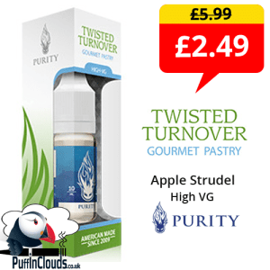 Purity Twisted Turnover High VG 0mg E-Liquid (10ml Single Bottle) | Puffin Clouds UK