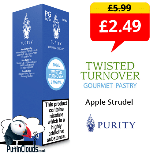 Purity Twisted Turnover E-Liquid 0mg (10ml Single Bottle) | Puffin Clouds UK