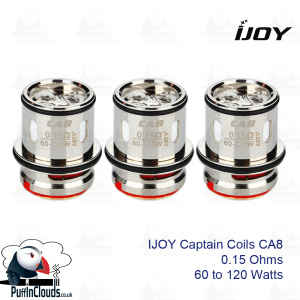 IJOY Captain CA8 0.15 Ohm Coils (3 Pack) | Puffin Clouds UK