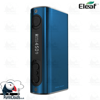 Eleaf iStick Power 80W Mod - Brushed Blue | Puffin Clouds UK