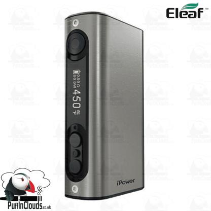 Eleaf iStick Power 80W Mod - Brushed Silver   Puffin Clouds UK