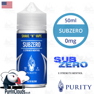 Purity SubZero Shake n Vape E-Liquid (50ml 0mg) | Puffin Clouds UK