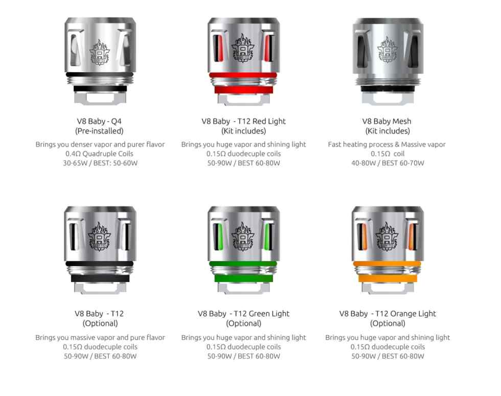 SMOK TFV12 Baby Prince Tank Coils | Puffin Clouds UK