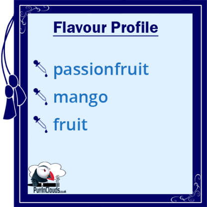 Ohm Brew Passionfruit and Mango Nic Salt E-Liquid Flavour Profile   Puffin Clouds UK