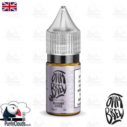 Ohm Brew Blueberry Bubble Nic Salt E-Liquid 50/50 | Puffin Clouds UK 50/50 | Puffin Clouds UK
