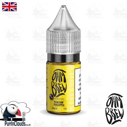 Ohm Brew Punchin Pinapple Nic Salt E-Liquid 50/50 | Puffin Clouds UK