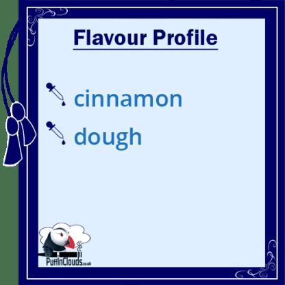 IVG Cinnamon Dough Short Fill E-Liquid 50ml Flavour Profile | Puffin Clouds UK