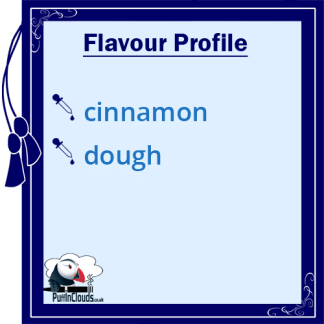 IVG Cinnamon Dough Short Fill E-Liquid 50ml Flavour Profile | Puffin Clouds UK