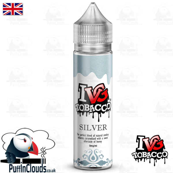 IVG Silver Tobacco Short Fill E-Liquid 50ml | Puffin Clouds UK