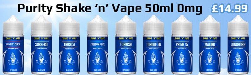 Purity Shake 'n' Vape E-Liquid | Puffin Clouds UK