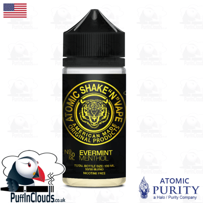 Atomic Evermint Menthol Shake n Vape E-Liquid (50ml 0mg) | Puffin Clouds UK