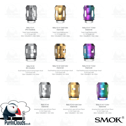 SMOK TFV-Mini V2 Tank (TFV8 Baby V2) UK Edition | Puffin Clouds UK