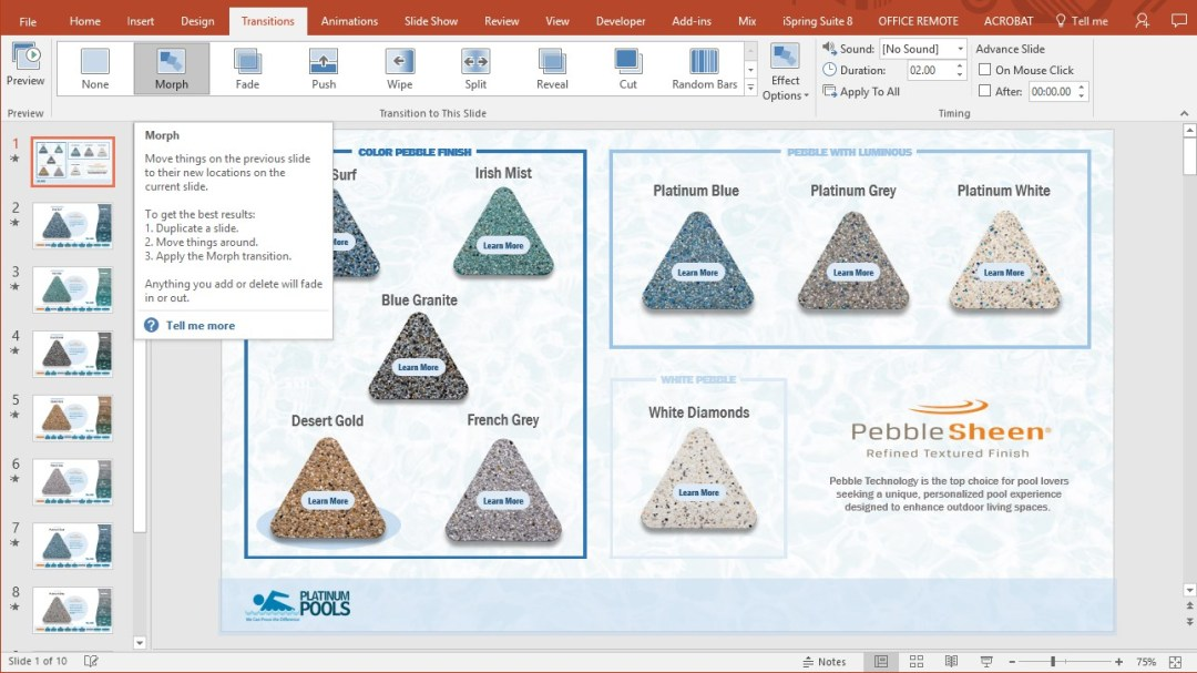 PowerPoint Morph screenshot