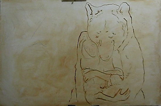 медведь поэтапно 1