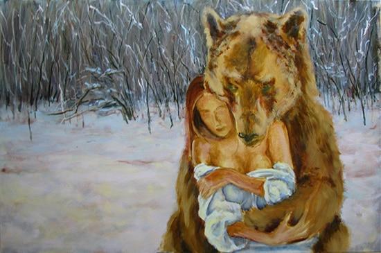 медведь поэтапно 7
