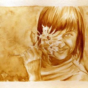 портрет кофе Алеся