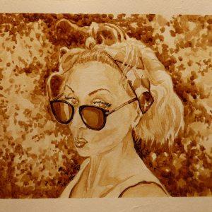 Картина кофе Лилия