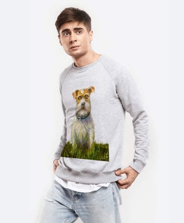 Свитшот для мужчин с принтом собаки