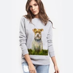 Женский свитшот с собакой