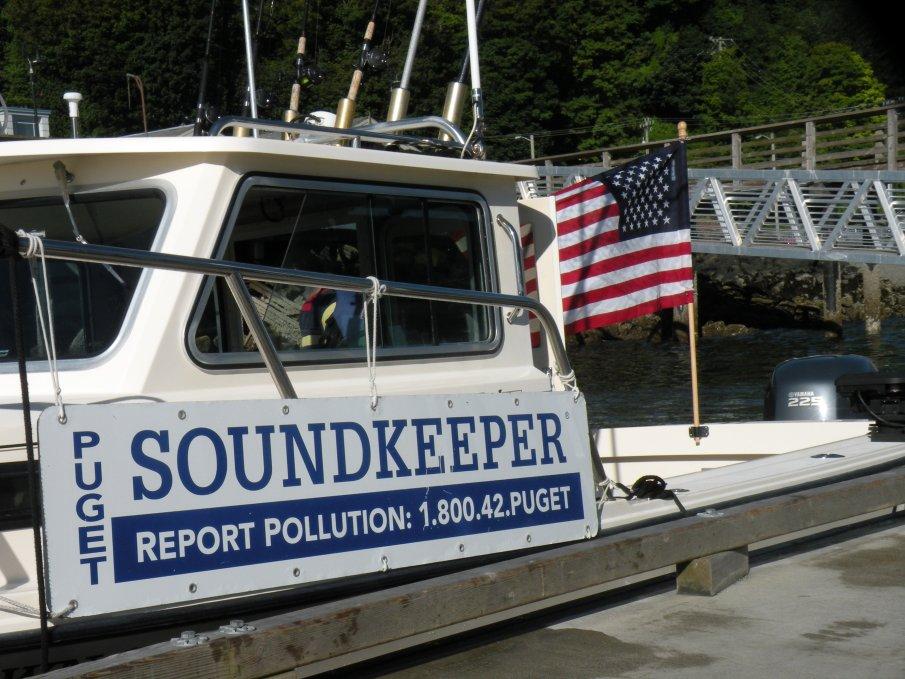Soundkeeper patrol in Elliott Bay.