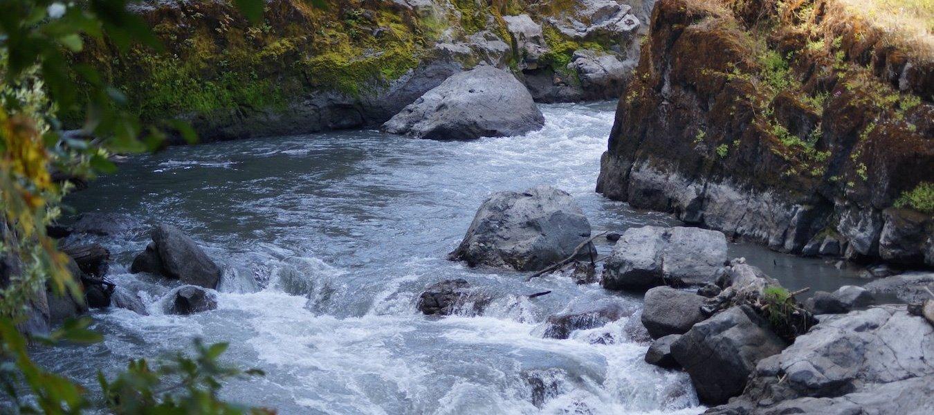 The Elwha River.