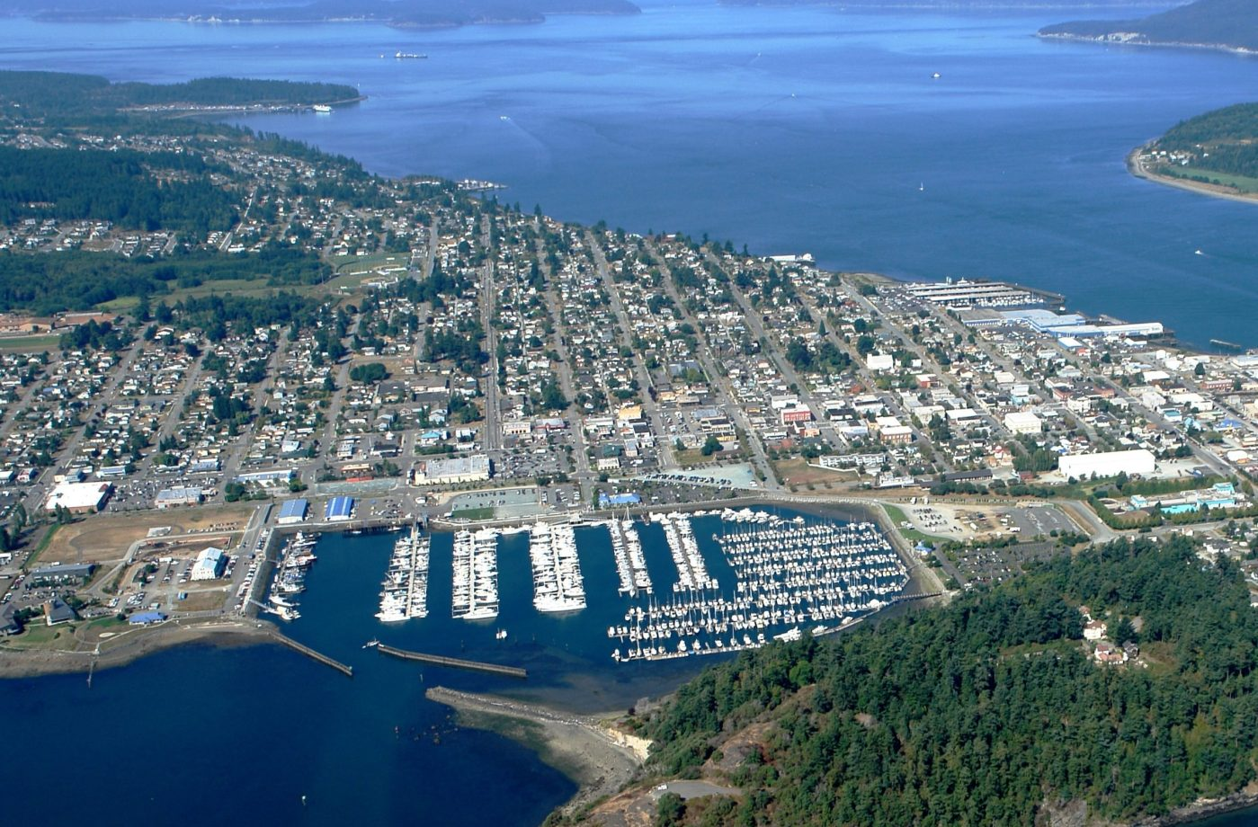 Downtown City of Anacortes Photo Taken From the West