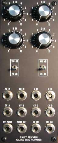 Blacet VCA panel