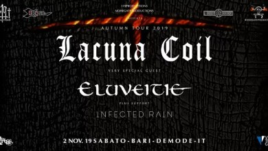 "Photo of [Music Live] LACUNA COIL, ELUVEITIE, INFECTED RAIN live concert @ ""Demodè Club"" Modugno (BA) – 2 novembre 2019"