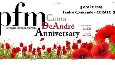 """Photo of [Music Live ] PREMIATA FORNERIA MARCONI """"PFM canta De André – Anniversary Tour"""" @ """"Teatro Comunale"""" Corato (BA) – 3 aprile 2019"""