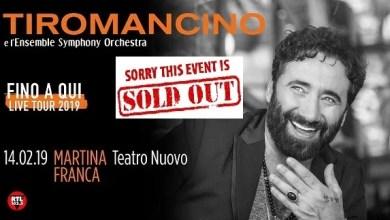 """Photo of [Music Live] TIROMANCINO """"Fino a qui"""" Live Tour 2019 @ """"Teatro Nuovo"""" Martina Franca (TA) – 14 febbraio 2019"""