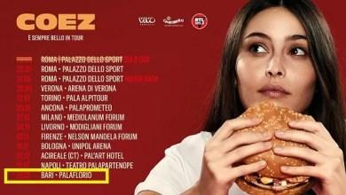 "Photo of [Music Live]  COEZ ""E' sempre bello"" in Tour @ ""Pala Florio"" Bari – 22 dicembre 2019"