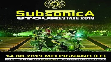 "Photo of [Music Live] SUBSONICA ""8 Tour Estate 2019"" @  Melpignano (LE) – 14 agosto 2019"